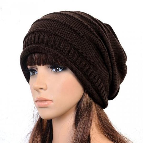 Women Men Winter Warm Ski Crochet Baggy Beanies Hat Cap Beret Skullies  Knitted Gorros Bonnet Femme Hiphop Twisted Hats W1 Q1-in Skullies   Beanies  from ... 8c62013e077