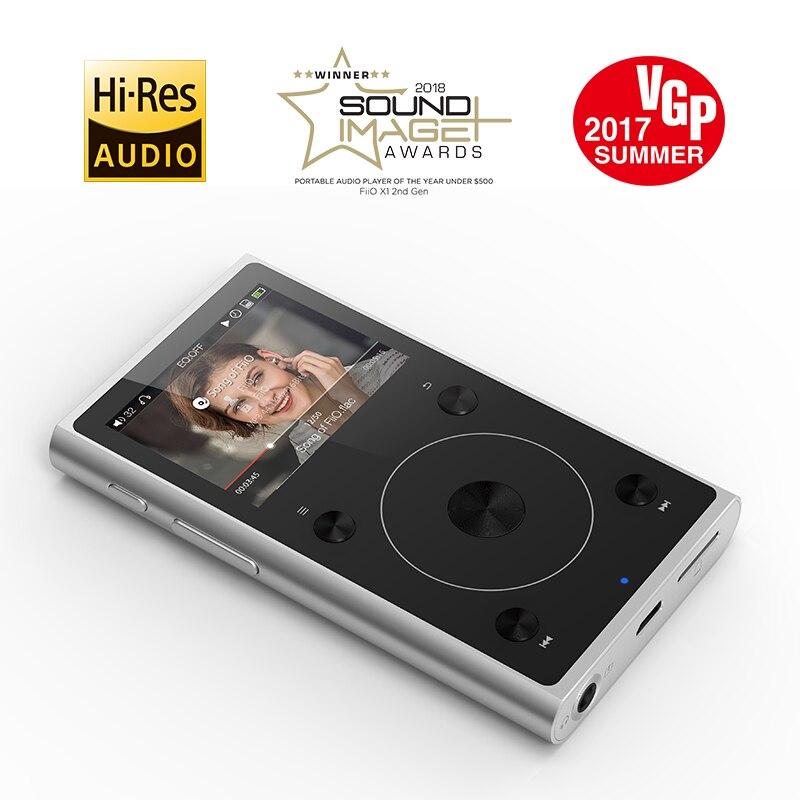 Boîtier métallique Portable Salut-Res Musique MP3 Étudiant Lecteur FiiO X1II Soutien Blutetooth 4.0 Noir/Argent Couleur 192 k/32BIT,