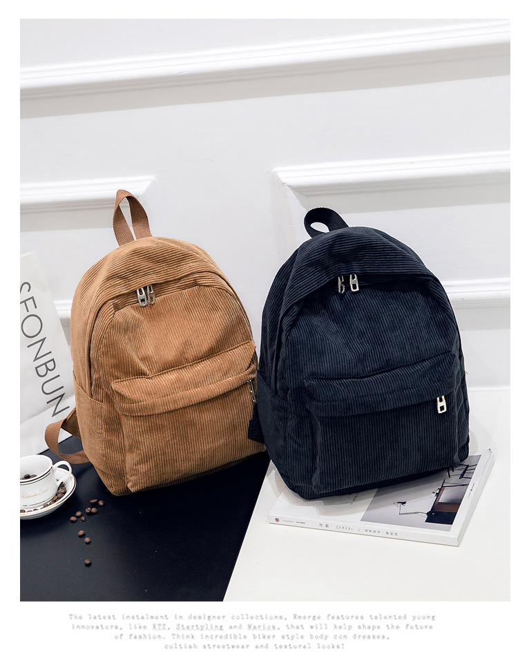 HTB1X0YHaMFY.1VjSZFqq6ydbXXaU 2019 New Corduroy Women Backpack Pure Color Women Travel Bag Fashion Double Backpack Female Mochila Bagpack Pack Design