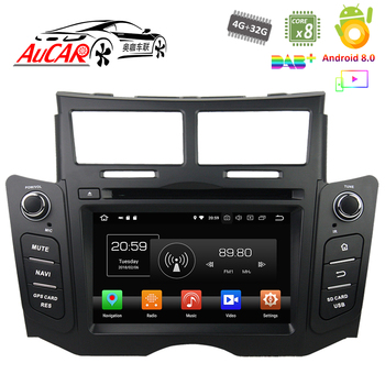 "Android 8,0 6,2 ""Сенсорный экран для автомобиля Toyota Yaris dvd 2005-2011 автомобилей gps Мультимедиа Bluetooth gps радио WI-FI 4G стерео AUX"
