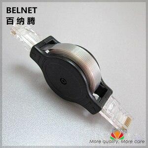 Image 1 - Câble plat rétractable portatif de réseau du câble ethernet CAT5e UTP du qg 1.5 m transparent de haute résistance pour le voyage daffaires de carnet