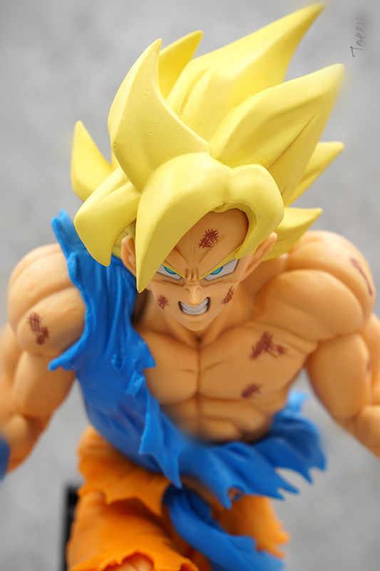 19 centímetros Dragon Ball Super saiyan Goku Kakarotto Choque brinquedos Action figure boneca de presente de Natal com caixa