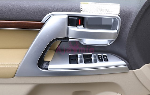 Interior Door hHandle Holder Trim AC Outlet Vent Cover Chrome Car Styling 2016 2017 For Toyota Land Cruiser 200 Accessories