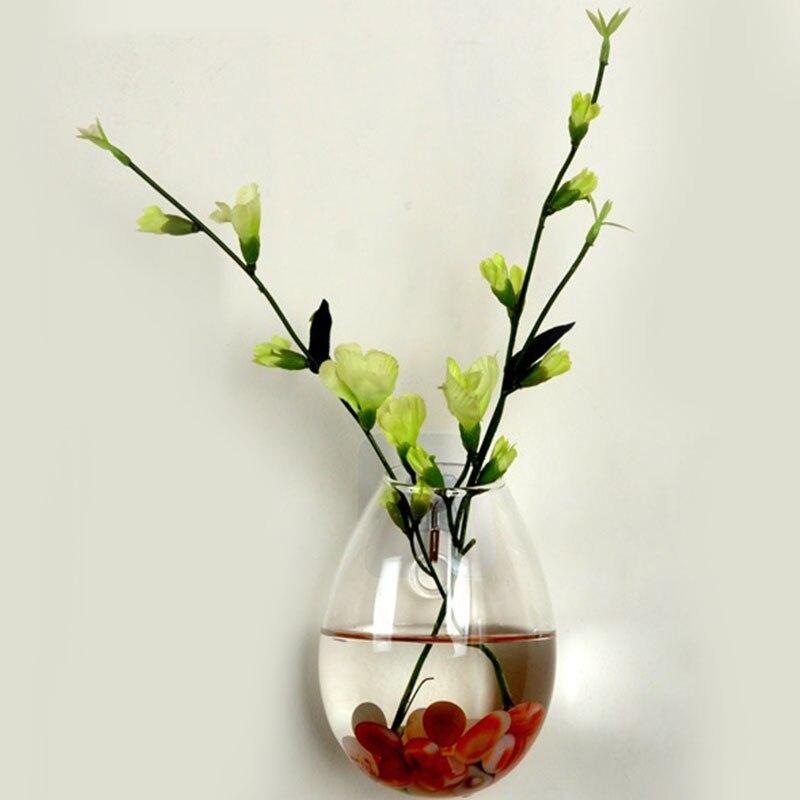 Wall Glass Terrarium Plants Flower Container Indoor Hanging Vase