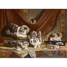 Yikee Алмазная вышивка кот круглая стразы алмазная живопись