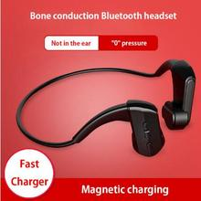 Magnetic Charging Bluetooth Wireless Earphones Lightweight Smart Bone Conduction Headset 4.1 Headphones