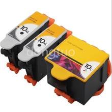 3 Compatible Kodak 10 Ink Cartridge for ESP 5 / 5230 7250 3250 5220 7 9250 Printer