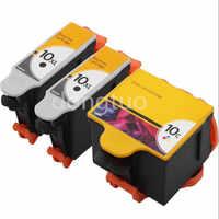 3 cartuchos de tinta Kodak 10 compatibles para ESP 5/5230/7250/3250/5220/7/ impresora 9250