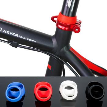 Siodełko rowerowe Post gumowy pierścień osłona przeciwpyłowa silikonowy wodoodporny rower sztyca etui ochronne jazda na rowerze rower części 25-34mm tanie i dobre opinie Rowery górskie Seat Post Dust Cover Z tworzywa sztucznego Bicycle Seatpost Dust Cover Bicycle Seat Post Rubber Ring Bike Parts