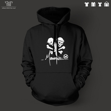 Mudvayne skull logo design pullover hoodie heavy hooded sweatershirt men unisex organic cotton fleece inside Free Shipping
