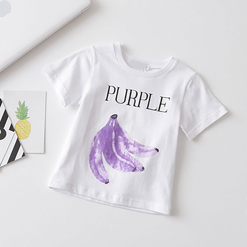 fashion fruit printed girls t-shirt family matching clothes summer popular childrens t-shirt casual family matching t-shirt