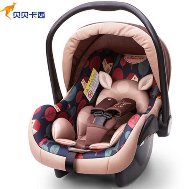 Infant child safety basket car seat newborn baby car cradle 0 9