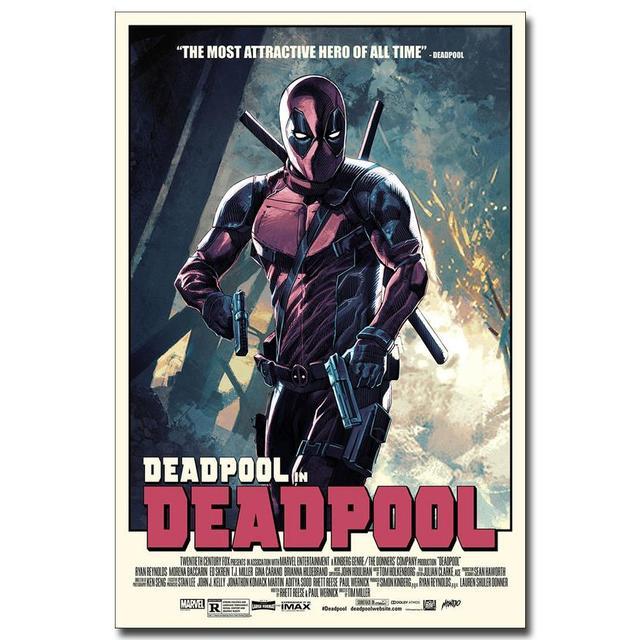 Плакат гобелен шелковый постер Дэдпул
