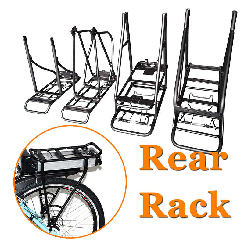 adjustable 20 24 29 26inch 700c 28 bike rear rack double layer electric bike battery carrier luggage rack bicycle accessories