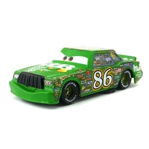 Image 3 - Disney Pixar Cars Racers Chick Hicks Lightning Mcqueen Koning NO.4 NO.123 1:55 Metal Diecast Speelgoed Auto Model Voor Jongens Kinderen Gift
