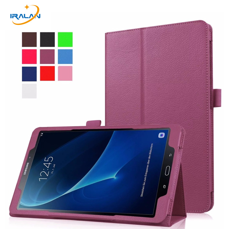 Hot PU leather case for samsung galaxy tab A 10.1 2016 T580 T585 cover  for 10.1'' T580n T585N tablet + protector+stylus free luxury flip pu leather case cover for samsung galaxy tab a 10 1 2016 t580 t585 t580n t585n tablet stand cover with card slots
