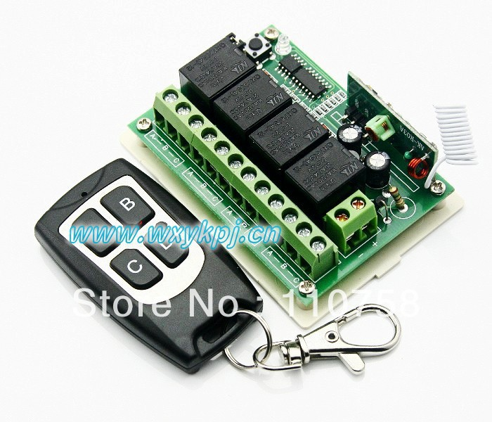 NEW ! Learning Code receiver DC 12V 10A 4CH Wireless Remote Control Switch System smart home controller rf Toggle switch