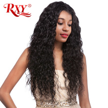 RXY Glueless Lace Front Human Hair Wigs For Black Women Water Wave 150% Brazilian Wigs With Baby Hair Swiss Lace Wig Non Remy