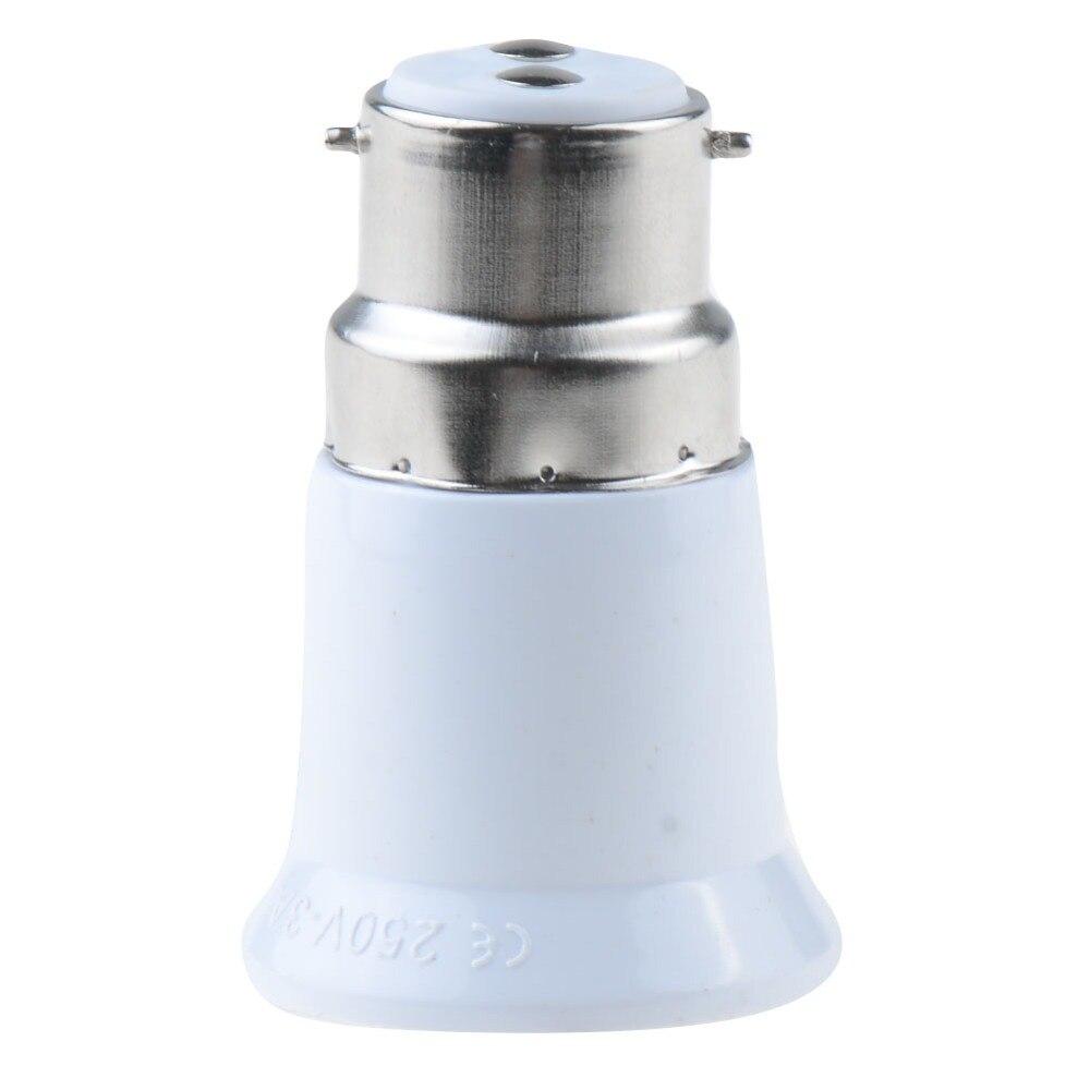 1 Piece B22 To E27 Fireproof Material Lamp Holder Converter Socket Light Bulb Base Type Adapter