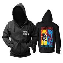 19 diseños Guns N Roses GNR algodón Rock Sudadera con capucha chaqueta de invierno con cremallera marca Sudadera punk heavy Metal Sudadera cráneo