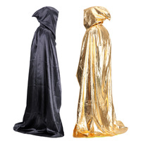 L 150cm Hat L 41cm Halloween Cosplay Party Men Women Scary Costume Masquerade Sorcerer Wizard Cloak