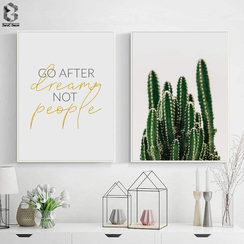 Cactus Nordic Canvas Wall Art