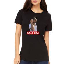Classic Tops Tee Shirts O-Neck Salt Bae  Women Short Sleeve Print Tee watermelon print short sleeve tee