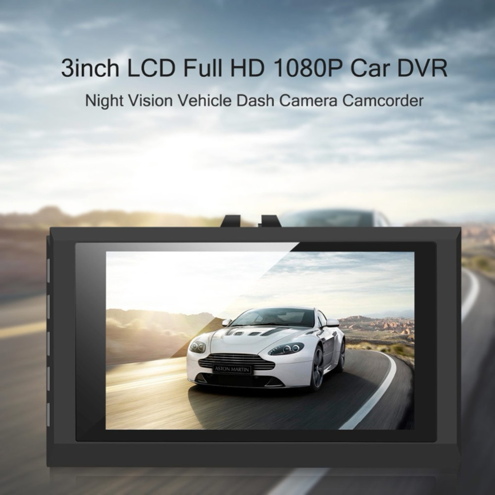 3.0  Full HD Night Vision 1080P Ultra-thin Car Camera Built-in Video Camera 500 Mega Pixel DVR Camcorder Microphone Dash Cam