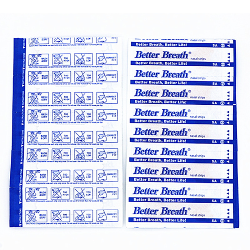 50pcs/lot(66x19mm) Stop Snoring Breathe Better Nasal Strips Right Way to Help You Sleep Patch