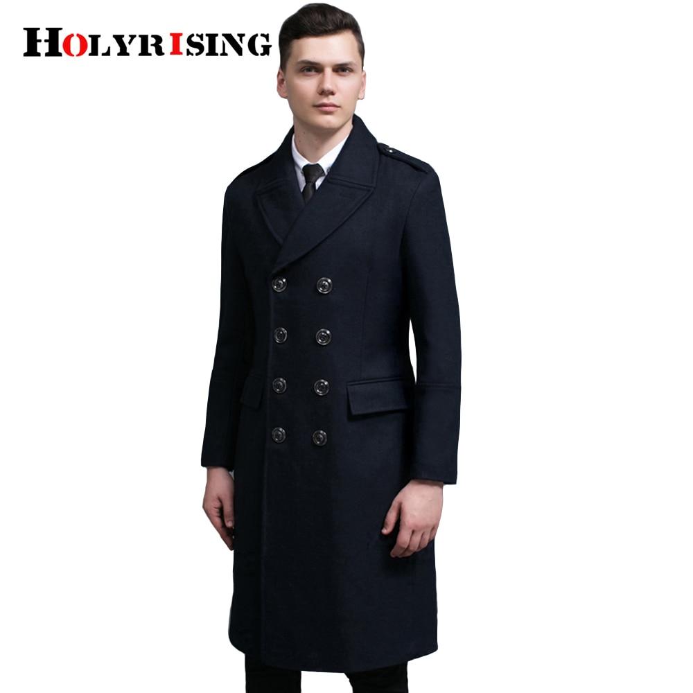 Men winter Wool Coats 70% wool Double Button Woolen Coats Long Outwear S-6XL Winter Classic Fashion Business Windbreaker 18428-5