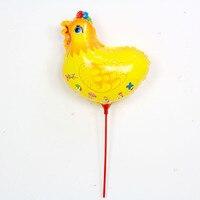 Прекрасный курица Шарики 20 шт./компл. с палкой 14.5 inch Air baloes День рождения Аксессуары детские игрушки для вечеринок Майларовый бал