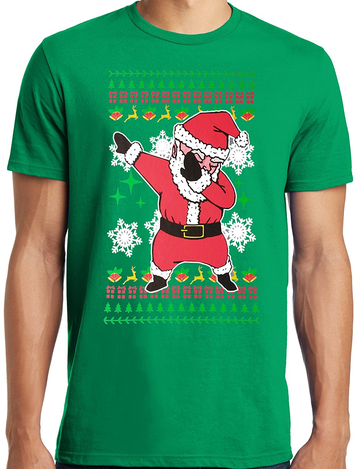 gildan libertees big and tall king size dabbing santa ugly christmas sweater t shirt