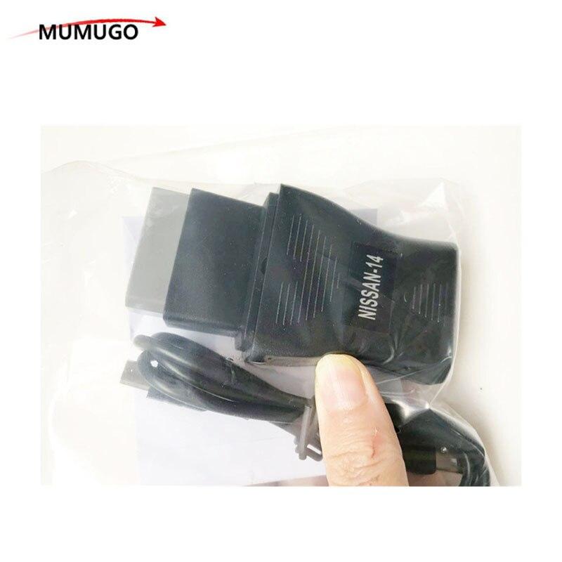 Nouveau Pour Nissan USB Interface De Diagnostic OBD2 OBD Scanner NS CO-N--SULT Pour Nissan 14Pin USB Câble Adaptateur