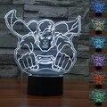 Novo Colorido Candeeiro de Mesa Led Luminaria Night Lights Superman 3D Crianças quarto das crianças iluminação Decorativa grande presente para as crianças