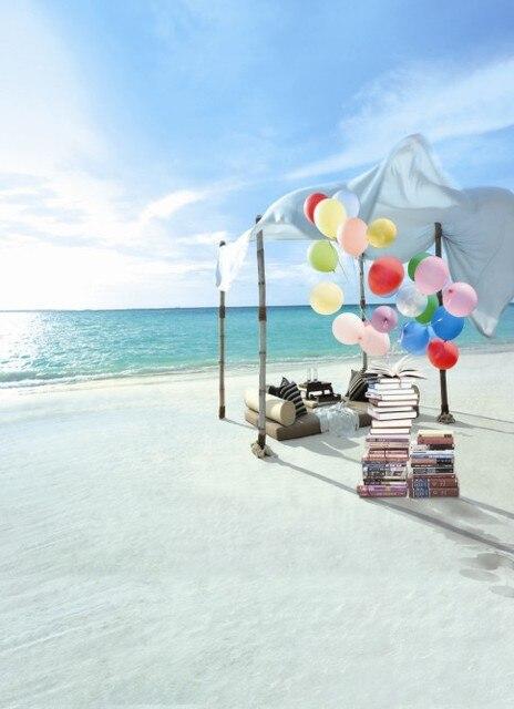 Balon Fundo Buku Laut Pantai Pemandangan Latar Belakang Bayi