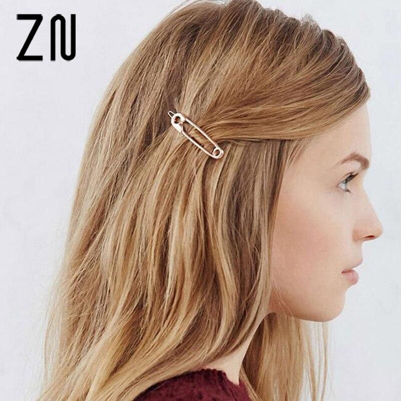 ZN Fashion Metal brooch design Hairpins for Women Wedding Hair Accessories Hair Clips For Girls