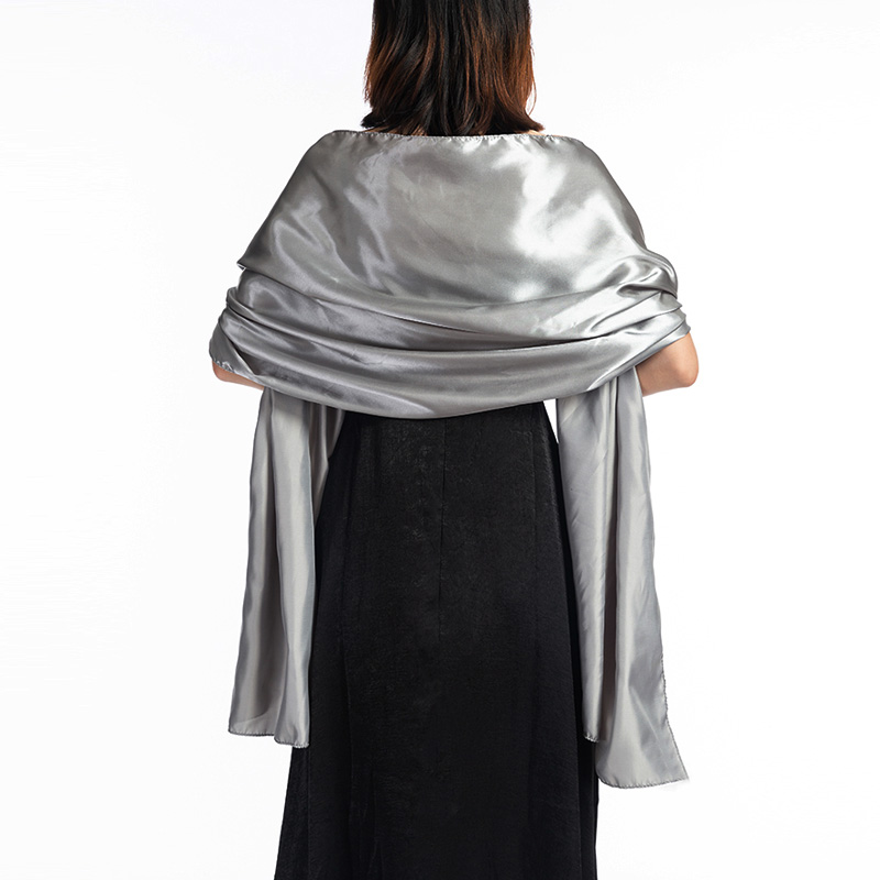 Elegant Women Satin Wrap Shawl Evening Party Wrap Bridal Wedding Shawl Wrap 2 Size Available Free Shipping OEM Order Accepted
