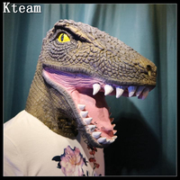 2017 Funny Scary Toy Halloween Mask Reality Bloody Dinosaur Mask Adult Cosplay Fancy Dress Props For Party Animal dinosaur Masks