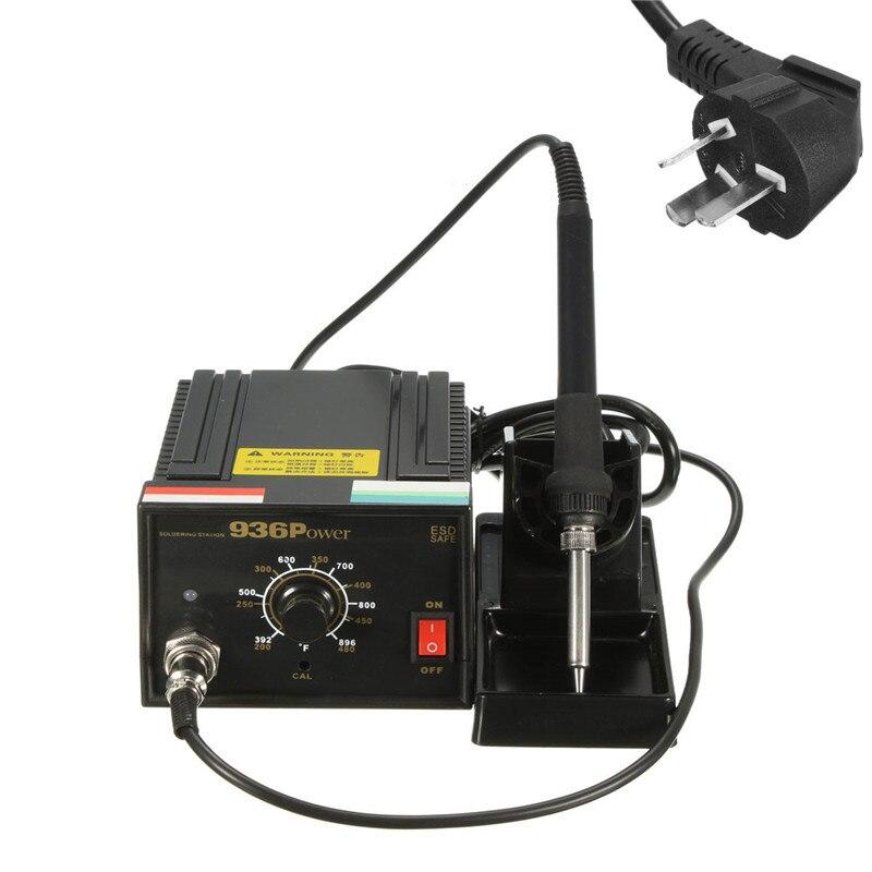 110V 220V Inverter Frequency Change Electric 936 Power Soldering Station Iron AU Plug 75W + Soldering Iron Handle