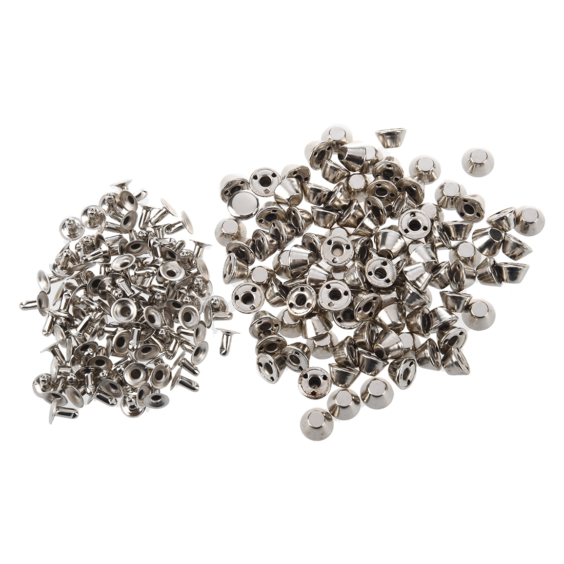 100pcs Double Cap Snap Rivet Studs Nailhead Buttons Bag Cloth Accessories DIY