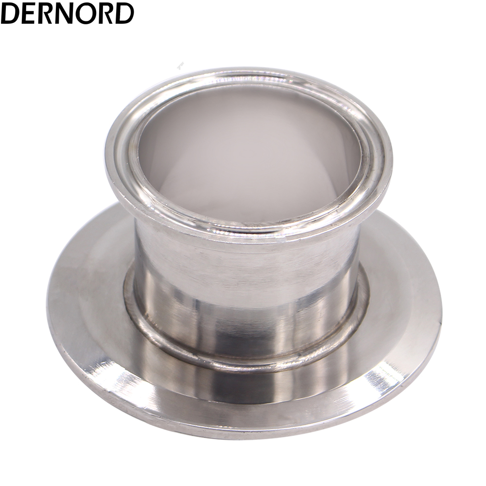 DERNORD 2 Inch X 3 Inch Sanitary Concentric Clamped Reducer 304 Stainless Steel Triclover Flat Sanitary Fitting End Cap Reducer