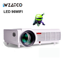 WZATCO LED96 Projetor Android WIFI 5500lumen Video HDMI Full HD 1080P Smart Home Theater 3D LED Multimedia Proyector Beamer