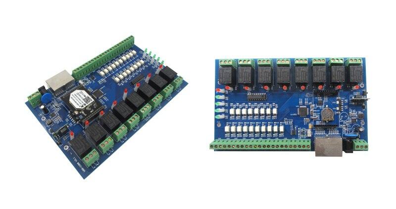 USR-IO88 Free Shipping Ultra-Low Power Serial To WIFI Module WiFi/LAN Relay 8 Channel WIFI Network Relay Control Switch esp 07 esp8266 uart serial to wifi wireless module