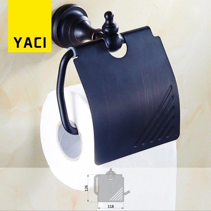 YACI Paper Holder Antique Blackened Wall Mounted Tissue ... on Wall Mounted Tissue Box Holder id=43875