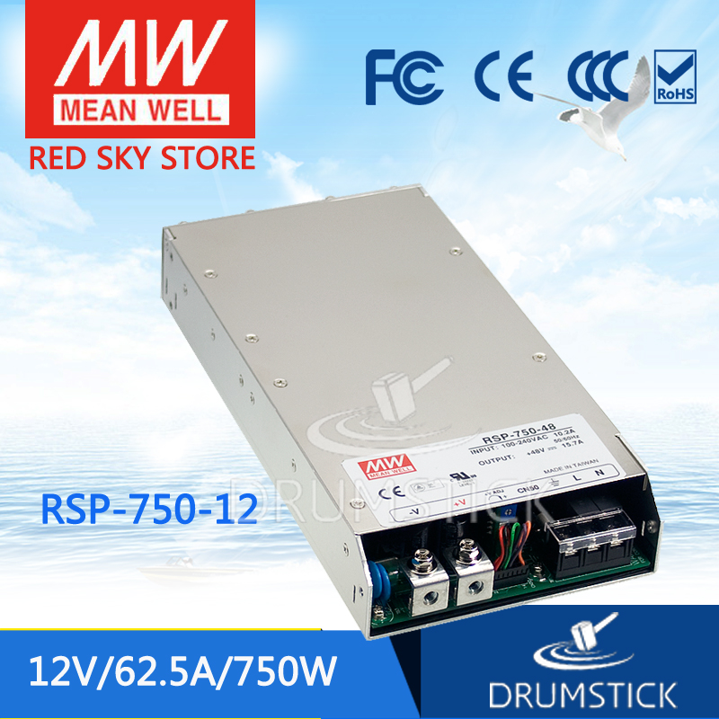 Hot sale MEAN WELL RSP-750-12 12V 62.5A meanwell RSP-750 12V 750W Single Output Power Supply selling hot mean well rsp 3000 12 12v 200a meanwell rsp 3000 12v 2400w single output power supply