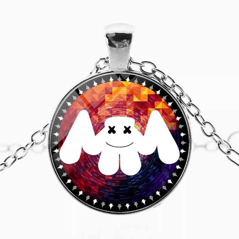 ZSQH DJ Marshmello 7 Style Pendant Necklace For Kids DJ Marshmello Cosplay Costume Accessories Cute Marshmallow Necklace Women