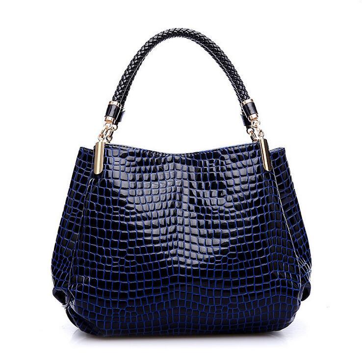 New crocodile grain Lady Handbags fashion women's single shoulder bag women's me