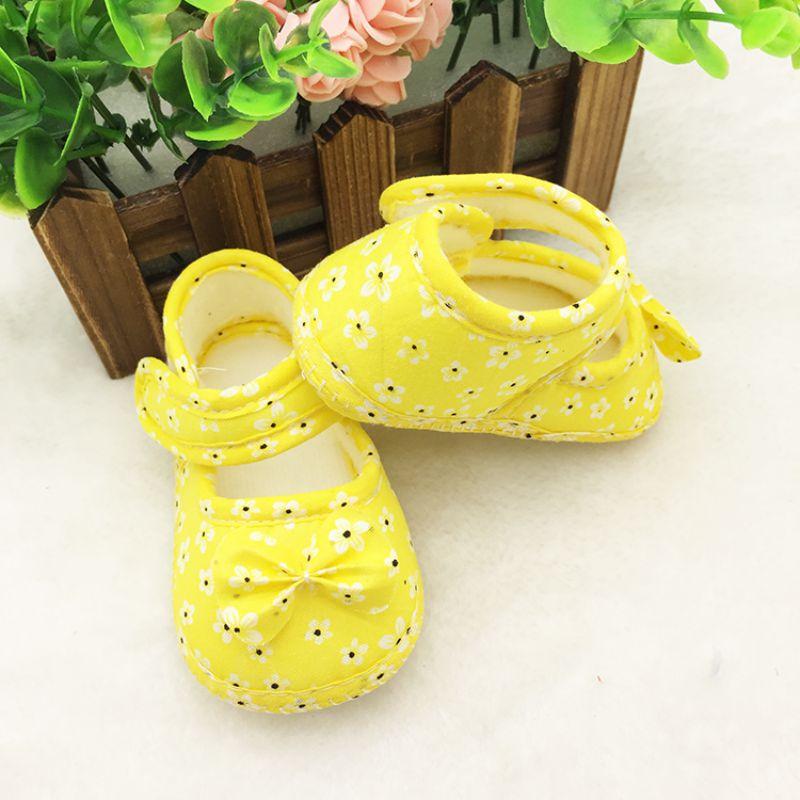 Infant Prewalker Toddler Girls Kid Bowknot Soft Anti-Slip Crib Shoes 0-18 Months