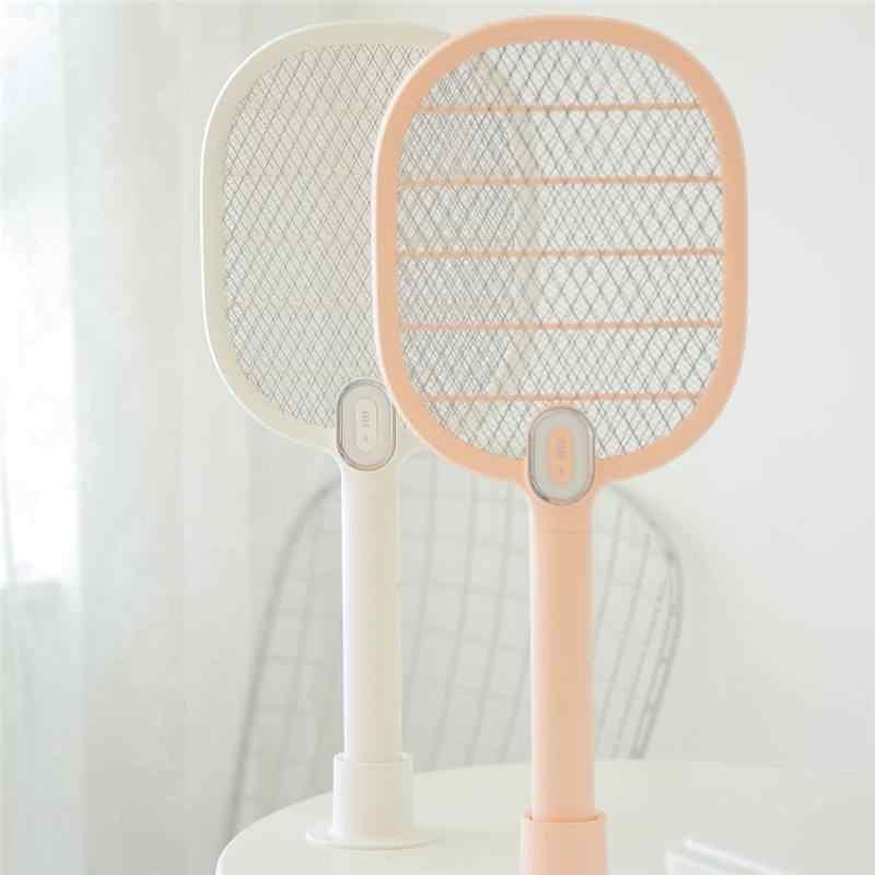 3 חיים יתושים חשמליים מחבט 3 שכבה יתושים Dispeller נטענת LED חשמלי חרקים באג יתושים רוצח מחבט