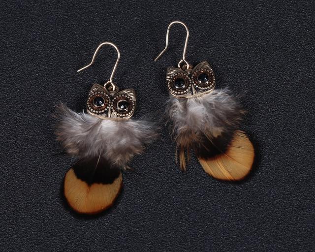 Fashion Women New Jewelry Wholesale Light Feathers Earrings Female Owl Shape Earrings Latest HY 7340.jpg 640x640 - Fashion Women New Jewelry Wholesale Light Feathers Earrings Female Owl Shape Earrings Latest HY-7340